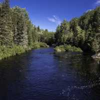 Scenic Riverway landscape at the Peshekee River, Van Riper State Park, Michigan