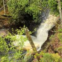 Raging Waterfalls at Cascade River State Park, Minnesota