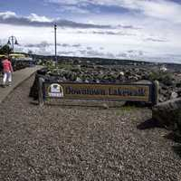 Downtown Lakewalk in Duluth, Minnesota