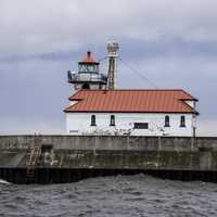 Lighthouse closeup on the Pier in Duluth, Minnesota