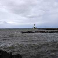 Lighthouse on Lake Superior in Duluth, Minnesota