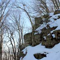 Bluff from below at Frontenac State Park, Minnesota