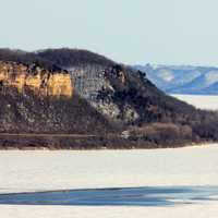 Close view of bluff at Frontenac State Park, Minnesota