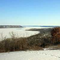 Far view of Mississippi at Frontenac State Park, Minnesota