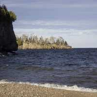 Coastline of Lake Superior landscape at Gooseberry Falls State Park, Minnesota
