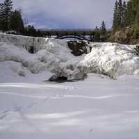 Frozen Waterfalls at Gooseberry Falls State Park, Minnesota