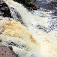 From the top of the falls at Gooseberry Falls State Park, Minnesota