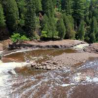 Water flowing Down at Gooseberry Falls State Park, Minnesota