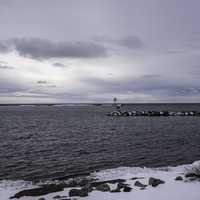 Peninsulas, landscapes, and lighthouses on Lake Superior in Grand Marais, Minnesota