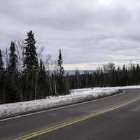 Road down to Grand Marais from the forest above