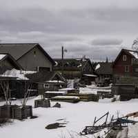 Snowed in Houses and buildings in Grand Marais, Minnesota