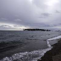 Winter Shoreline Landscape in Grand Marais, Minnesota