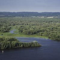 Inlet of the Mississippi River and Landscape at Great River Bluffs State Park