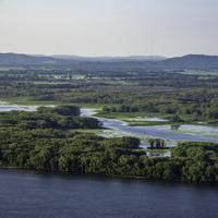 Main River and backwaters flowing into the Mississippi River