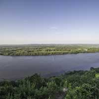 Peaceful and scenic overlook of the Mississippi River Landscape