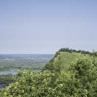 View of Queen's Bluff at Great River Bluffs State Park