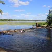 Headwaters Rapids at lake Itasca state park, Minnesota