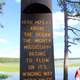 Marker for the Mississippi's Origins at lake Itasca state park, Minnesota