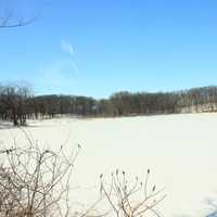 Another Frozen lake at Lake Maria State Park, Minnesota