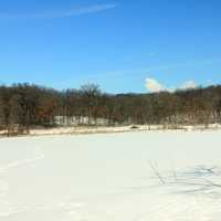Frozen lake at Lake Maria State Park, Minnesota