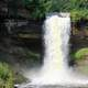 Minnehaha Falls frontal view in Minneapolis, Minnesota