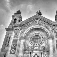 Black and White Cathedral Shot at St. Paul, Minnesota