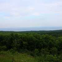 View of the forest and Lake Superior in Superior National Forest, Minnesota