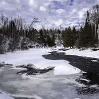 Scenic Temperance River and Landscape with trees in Minnesota