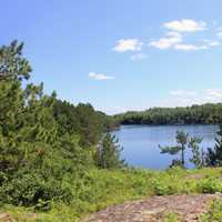 Overlook of Cruiser Lake at Voyaguers National Park, Minnesota