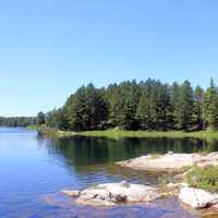 Shoreline of Cruiser Lake at Voayguers National Park, Minnesota
