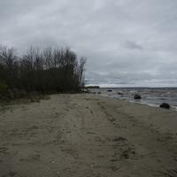 Cloudy Skies and Shoreline of Lake of the Woods, Minnesota