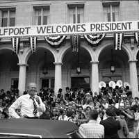 Gerald Ford visits Gulfport, Mississippi in 1976