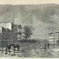 Engraving of the Capture of Jackson, Mississippi by Union Forces in 1863