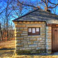 Bathroom building at Babbler State Park, Missouri