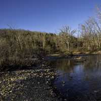 Shoreline and Current River Landscape at Echo Bluff State Park, Missouri