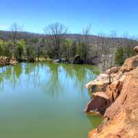 Pond overview at Elephant Rocks State Park