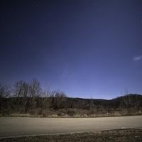 Blue Starry Skies over Johnson's Shut Ins State Park, Missouri 2018 New year's day