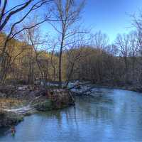 Scenery of the Current River at Montauk State Park, Missouri