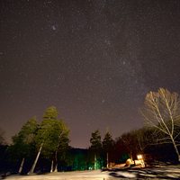 Starry Sky above the Cabins at Montauk