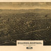 Cityscape map of Billings, Montana in 1904