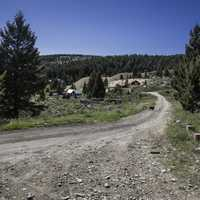Gravel Road and town of Elkhorn, Montana