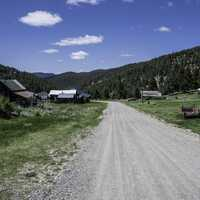 Gravel Road into Elkhorn, Montana