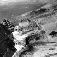 Grinnell Glacier in 1938 in Glacier National Park, Montana