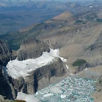 Grinnell Glacier in 2009 in Glacier National Park, Montana