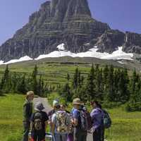 Group of Visitors at Clements Mountain in Montana