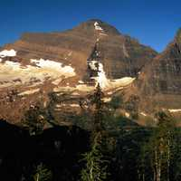 Kintla Peak in Glacier National Park, Montana