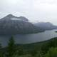 Landscape around Goat Haunt at Glacier National Park, Montana