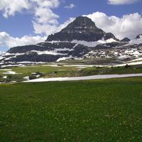 Logan Pass with Mount Reynolds at Glacier National Park, Montana