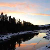 Middle Fork of the Flathead River in winter