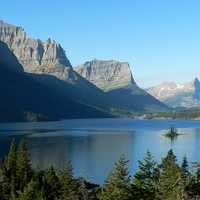 Saint Mary Lake landscape in Glacier National Park, Montana